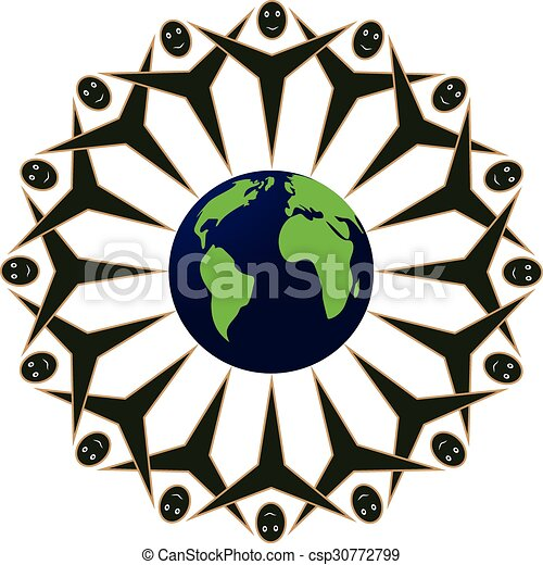 Humanchain The People Of Earth United Around The World Symbol Of