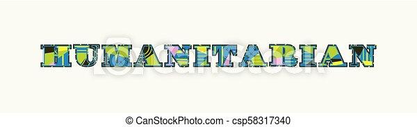 Humanitarian Concept Word Art Illustration - csp58317340