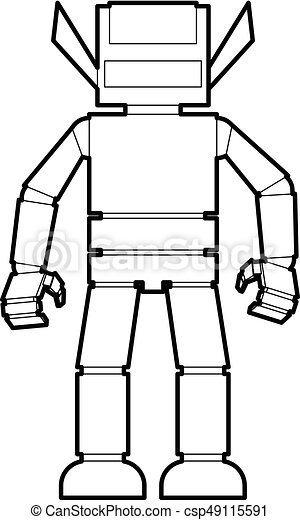 Humanoid Robot Icon Outline Humanoid Robot Icon In Outline Style