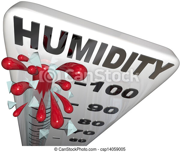 Humidity Level Rate Rising 100 Percent Thermometer - csp14059005