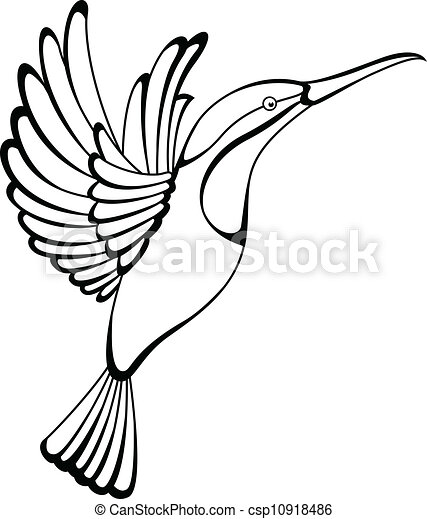vector illustration of hummingbird tattoo vector search clip art rh canstockphoto com hummingbird clip art pictures hummingbird clipart black and white