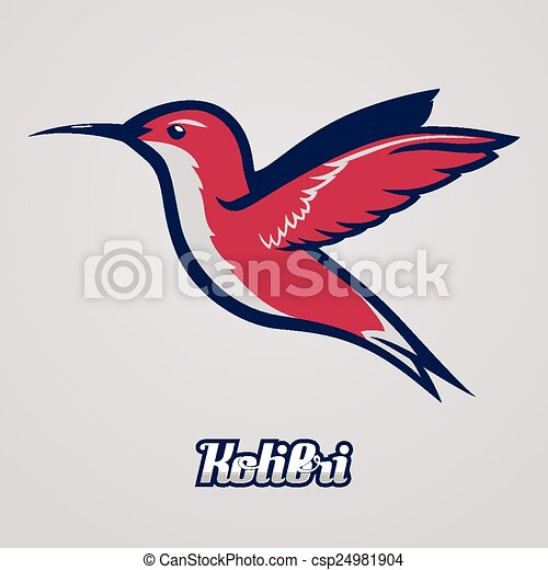 hummingbird vector to be used as a mascot or logo etc
