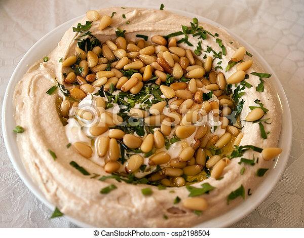 Hummus Middle East food - csp2198504