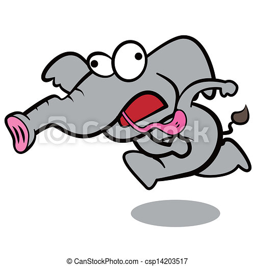 humor cartoon elephant running with white background vector clip rh canstockphoto com thanksgiving humor clipart