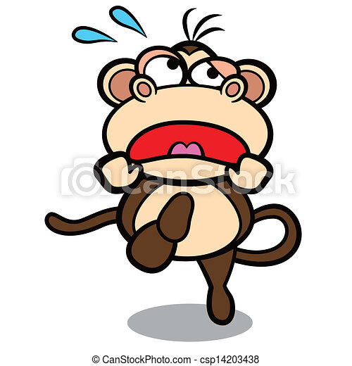 humor cartoon monkey running with white background vectors search rh canstockphoto com