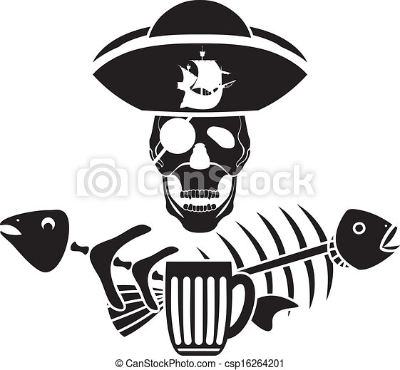 Humor piracy tavern symbol stencil - csp16264201