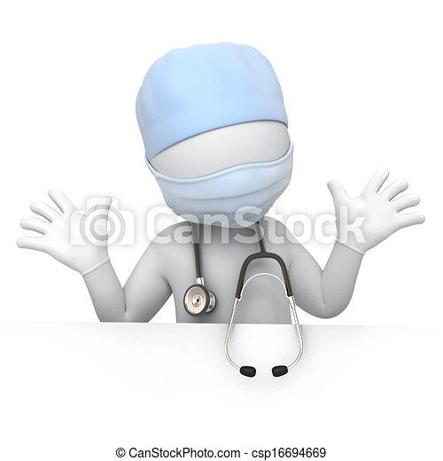 humoristiske, doktor - csp16694669