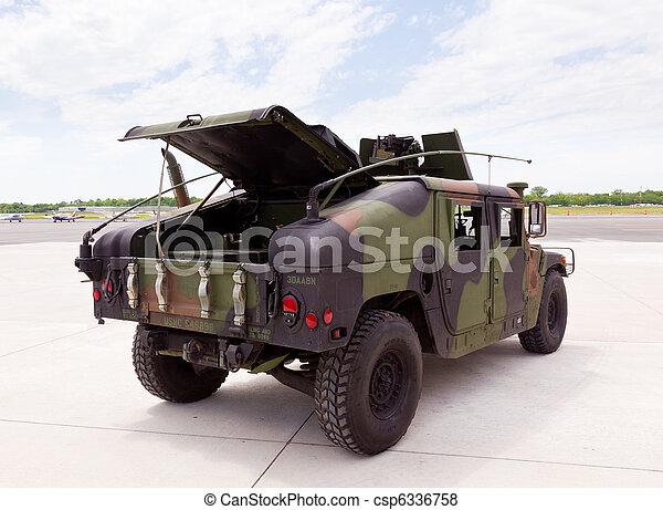 humvee, camuflado, camión, ejército - csp6336758