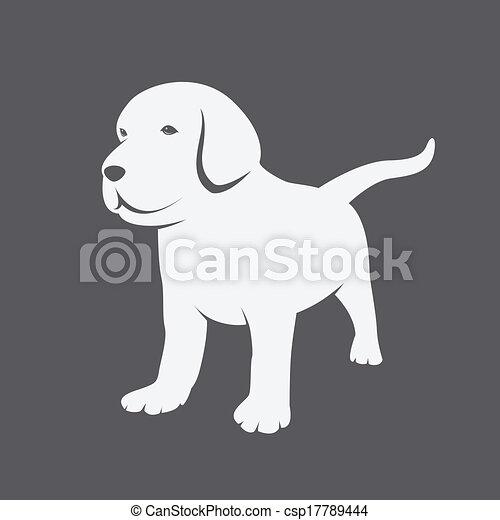 hundebabys, bild, vektor, labrador - csp17789444
