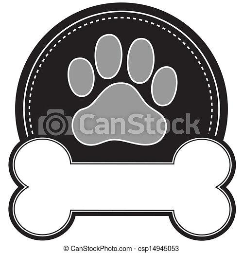 Hundeknochen und Pfote - csp14945053