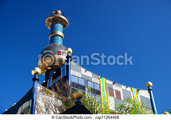 Hundertwasser district heating plan - csp11264466