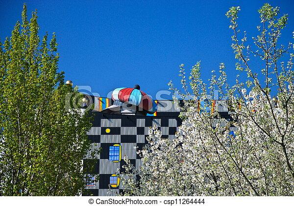 Hundertwasser district heating plan - csp11264444