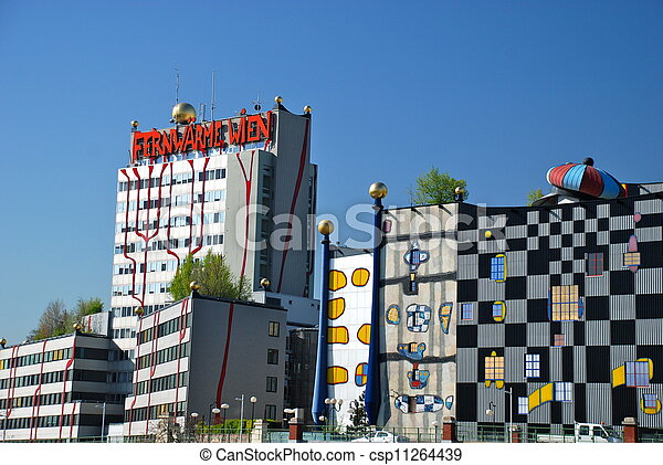Hundertwasser district heating plan - csp11264439
