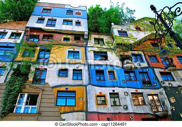 Hundertwasser haus wien wien architekt wohnung for Hundertwasser architektur