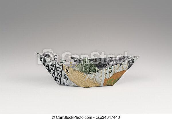 Kayak Diagram - Money Origami Dollar Bill Art | Dollar origami ... | 320x450