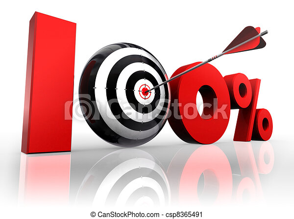 hundred per cent conceptual target - csp8365491