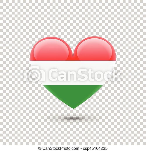 Hungarian Flag Heart Icon