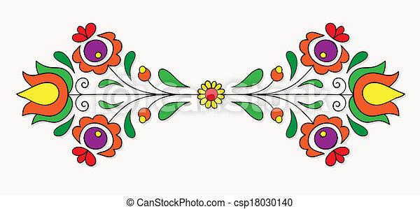 Hungarian folk motif - csp18030140