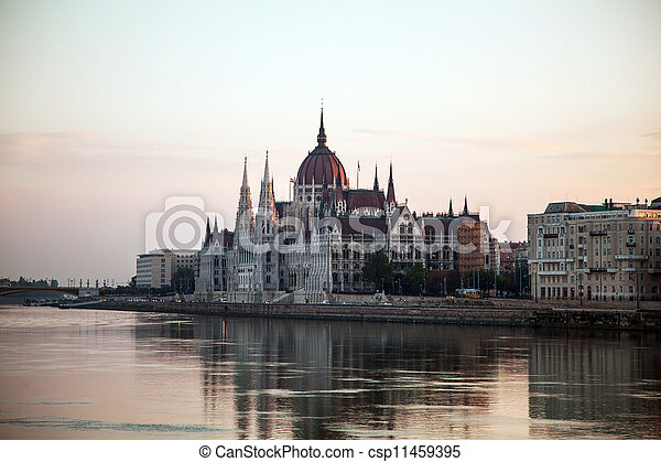 Hungarian House of Parliament in Budapest, Hungary - csp11459395