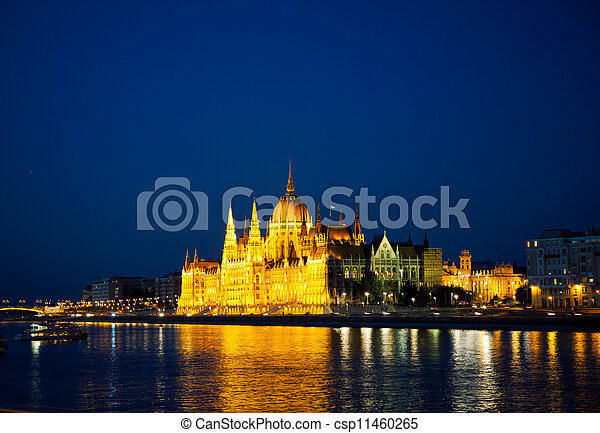 Hungarian Houses of Parliament in Budapest - csp11460265