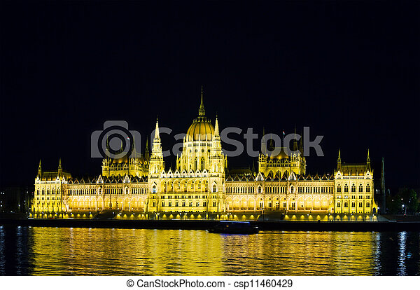 Hungarian Houses of Parliament in Budapest - csp11460429