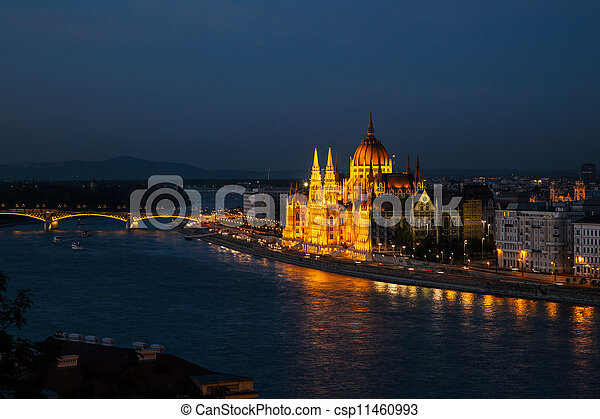 Hungarian Houses of Parliament in Budapest - csp11460993