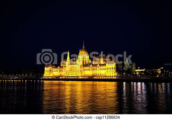 Hungarian Houses of Parliament in Budapest - csp11286634