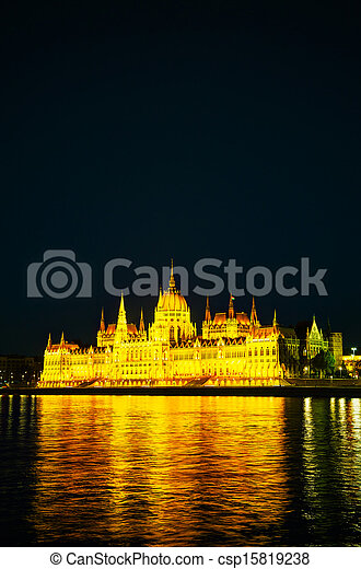 Hungarian Houses of Parliament in Budapest - csp15819238