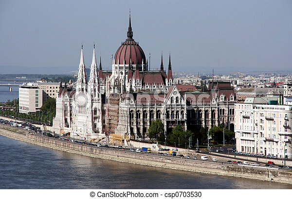 Hungarian parliament - famous landmark - csp0703530
