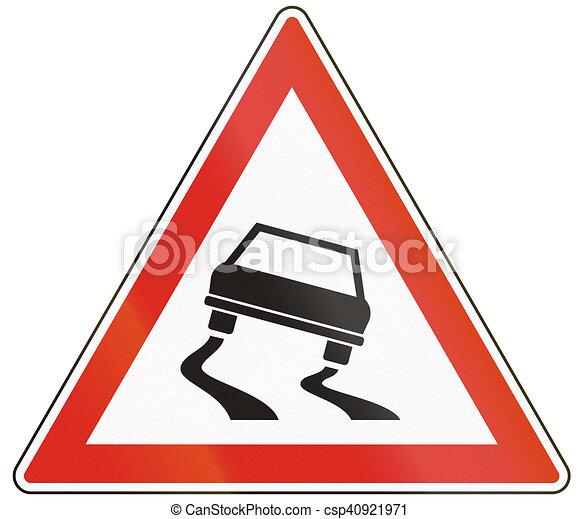 Slip On Ice. Slippery Road In Winter. Vector Illustration Stock Vector -  Illustration of risk, slip: 128762424