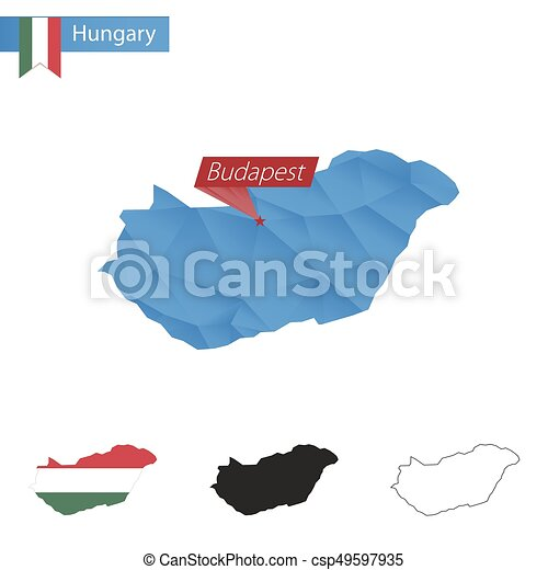 Hungary blue Low Poly map with capital Budapest. on bulgaria hungary map, capital of hungary map, czech republic hungary map, europe hungary map, austria map, budapest tourist attractions, hungary state map, bucharest hungary map, amsterdam netherlands map, ajka hungary map, old hungary map, budapest sights, romania map, switzerland map, bratislava hungary map, prague map, hungary on the map, albania map, budapest history, kassa hungary map,