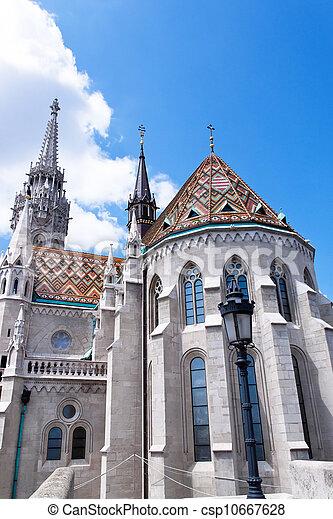 hungary, budapest, matthias church. - csp10667628