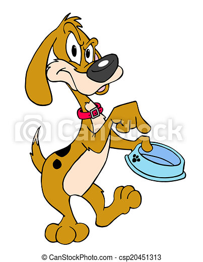 hungry dog hand drawn cartoon dog with an empty bowl clipart rh canstockphoto com hungry clipart black and white hungry clipart faces