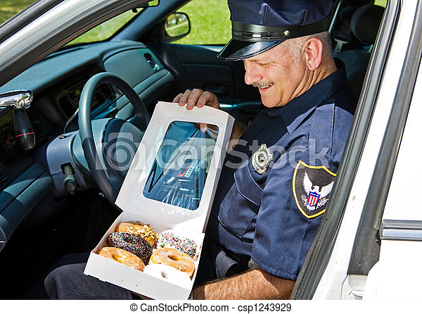 Hungry Policeman - csp1243929