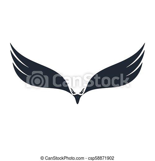 Hunter eagle, negative space, vector illustration - csp58871902