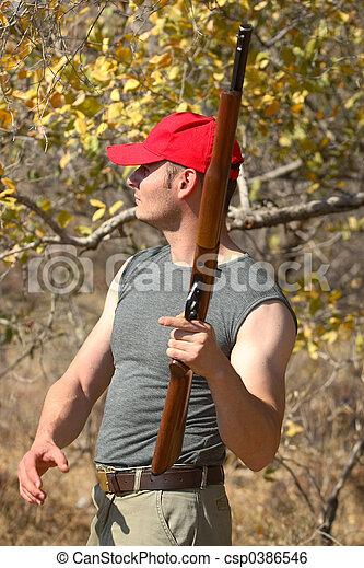 Hunter hunting