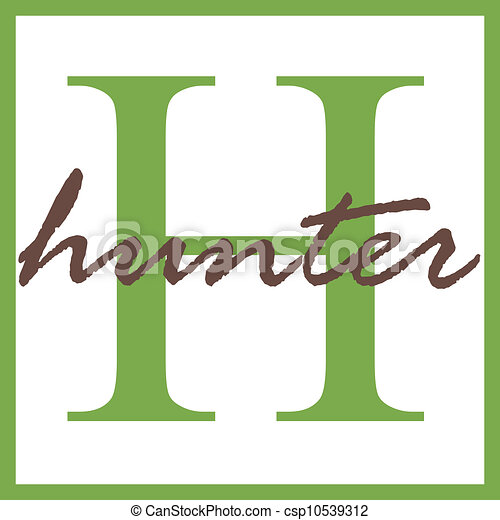 hunter name monogram name monogram clipart search illustration rh canstockphoto com name clipart black and white name clipart images