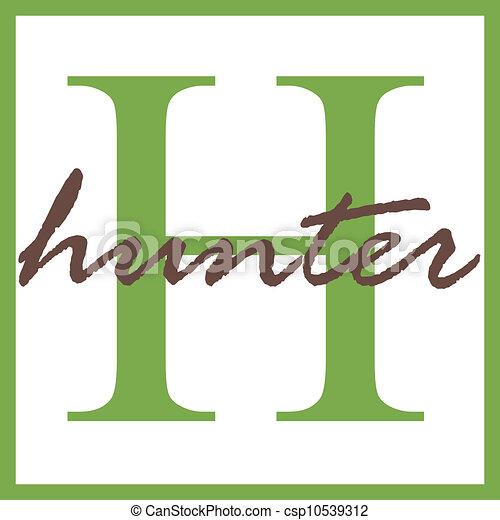 hunter name monogram name monogram clipart search illustration rh canstockphoto com name clip art generator name clip art generator