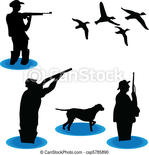 Hunters of wild ducks - csp5785890