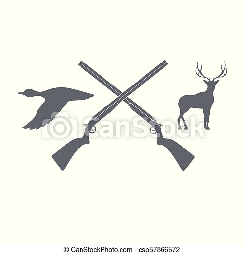 Hunting club logo icon - csp57866572