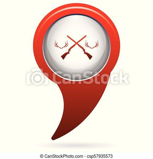 Hunting club logo icon - csp57935573