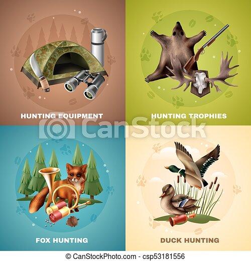 Hunting Design Concept - csp53181556