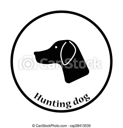 Hunting dog had  icon - csp38413539