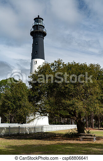 Hunting Island Lighthouse - csp68806641