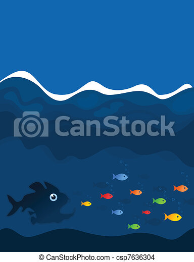 Hunting of fishes - csp7636304
