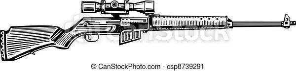 Hunting rifle - csp8739291