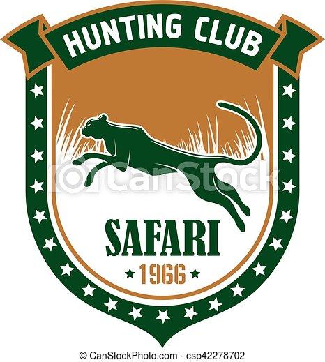 Hunting safari club vector sign - csp42278702
