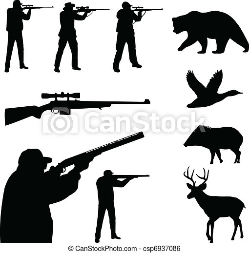 Hunting silhouettes - csp6937086