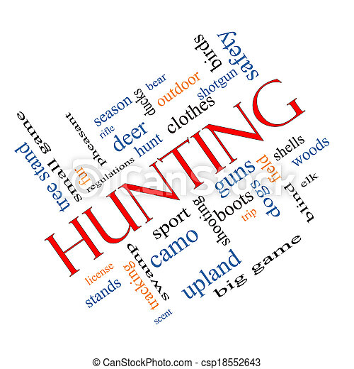 Hunting Word Cloud Concept angled - csp18552643