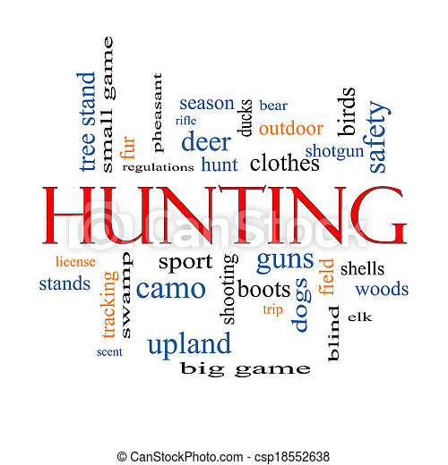 Hunting Word Cloud Concept - csp18552638